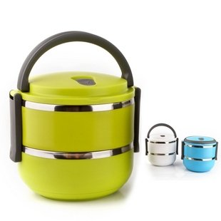 Homio Double Layer Stainless Steel Vacuum Lunch Box Kids 1.4L Keep Warm Food Container front-277258