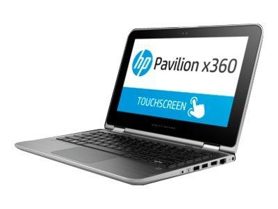 Hewlett Packard - HP Pavilion x360 11-k000nf - Conception inclinable - Celeron N3050 1.6 GHz - Windows 8.1 64 bits - 4 Go RAM - 500 Go HDD - sans lecteur optique - 11.6'' écran tactile 1366 x 768 ( HD ) - Intel HD Graphics - argent cendré, a