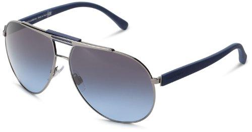 D&G Dolce & Gabbana 0Dg2119 11898F Aviator Sunglasses,Gunmetal,62 Mm