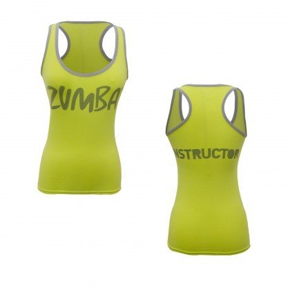 Zumba Specialty Instructors top (SIZE LARGE) Lime Punch