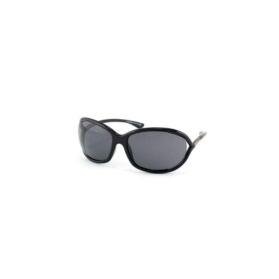 f700533460d0 Tom Ford Jennifer FT0008 Sunglasses 199 Shiny Black (Dark Gray Lens) 61mm