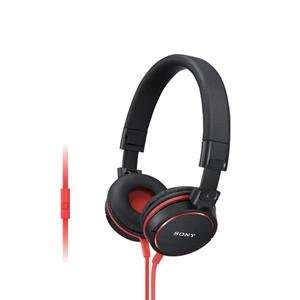 Sony Mdr-Zx600Ap Sound Monitoring Headphone (With In-Line Remote And Microphone) - Red