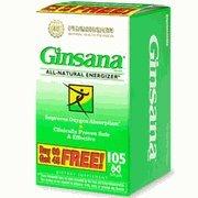 Pharmaton Natural Health - Ginsana Capsules Bonus 105 Caps