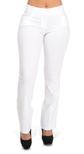 Boot Cut Mid Rise White Dress Pants - Small