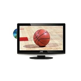 "JVC LT-19D200 - 19"" LCD TV with built-in DVD player - widescreen - 720p - HDTV - black"