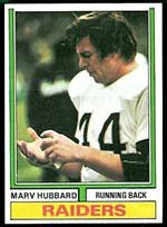 1974 Topps Regular (Football) Card# 300 Marv Hubbard of the Oakland Raiders VG Condition