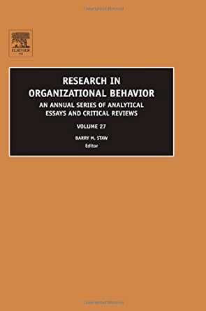Research paper on organizational behavior