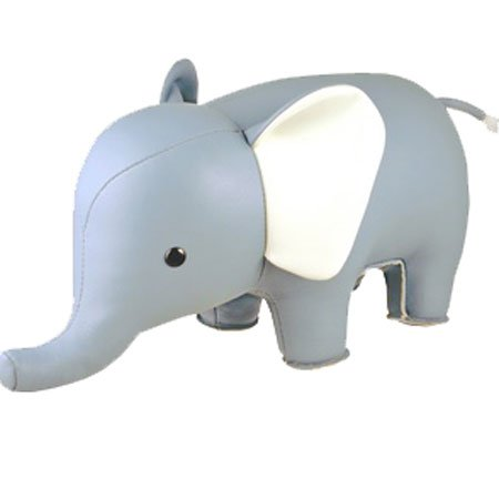 Zuny Classic Series Elephant Blue Animal Bookend