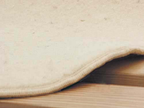 Naturally Safer Pure Wool Underbed Organic Mattress Pad Size: Twin front-583854