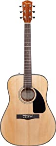 Fender DG-8S Solid Spruce Top Dreadnought Acoustic Guitar Pack with Gig Bag, Tuner, Strings, Picks, Strap, and Instructional DVD  - Natural