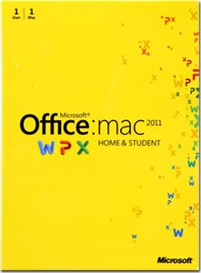 Office Mac Home & Student 2011 Key Card (1pc/1user) Picture