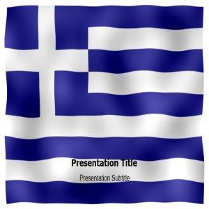 greek flag template - greek animated flag powerpoint templates