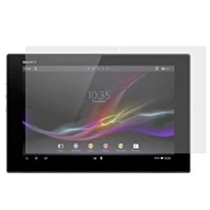 TECHGEAR® Sony Xperia Tablet Z (SO-03E) 10.1 Inch CLEAR LCD Screen Protector Guard With Cleaning Cloth + Application Card by TECHGEAR SOLUTIONS