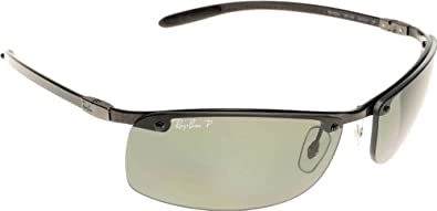 Ray Ban Sunglasses RB8305 Tech 082/9A Dark Carbon/Polarized Green, 64mm