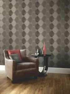 Arthouse Opera Retro Leaf Wallpaper - Taupe by New A-Brend