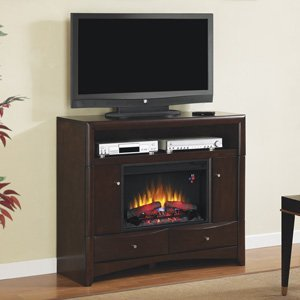 Classicflame Delray Electric Fireplace Media Console In Roasted Walnut - 26De9401-W509