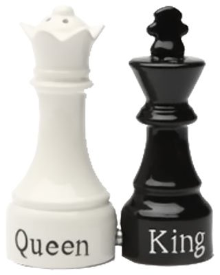 Queen & King Ceramic Salt & Pepper Shakers