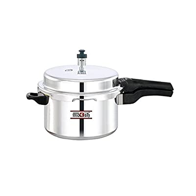Moksh Pressure Cooker Induction Base, 5 Litres,Silver