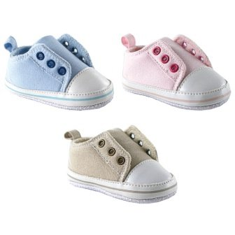 Luvable Friends Laceless Sneaker, Pink, 6-12 months