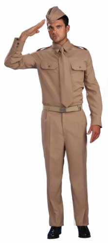 Army WW2 Private Costume Army Costume Mens Military Costume 64075