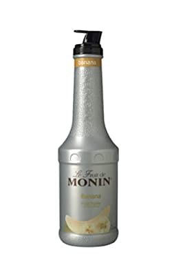 Monin Banana Fruit Puree,1 Liter bottle from Monin Inc.