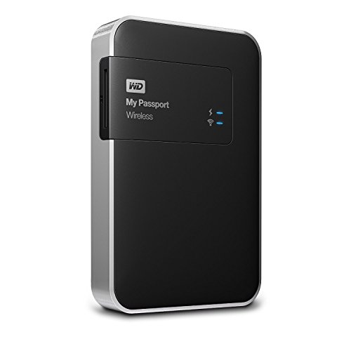 WD 1TB  My Passport Wireless - Hard Disk Esterno Portatile - WIFI USB 3.0 - WDBK8Z0010BBK-EESN