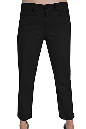 Calvin Klein Womens Power Stretch Skinny Cropped Pants, Blac