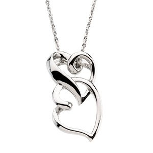 Sterling Silver Friendship Pendant & Chain and GiftBox
