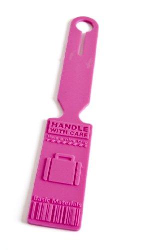 Longtime LT 1145pink Kofferanhänger Silikon pink, Namensschild, Gepäckanhänger, Kofferschild, Reiseanhänger, pink