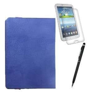 Callmate Suction Cup Cover For Samsung Galaxy Tab 2 7.0 P3100 + Stylus Pen + Screen Guard - Dark Blue