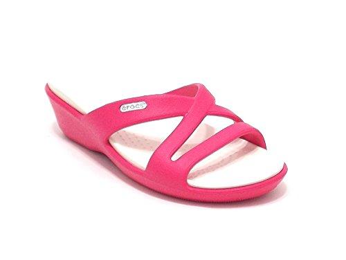 Crocs scarpe donna, modello Patricia, pantofola mare in gomma, colore poppy