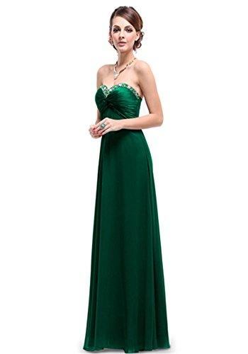 My Wonderful World Women's Sweetheart Neckline Off The Shoulder Dresses Medium Emerald Green