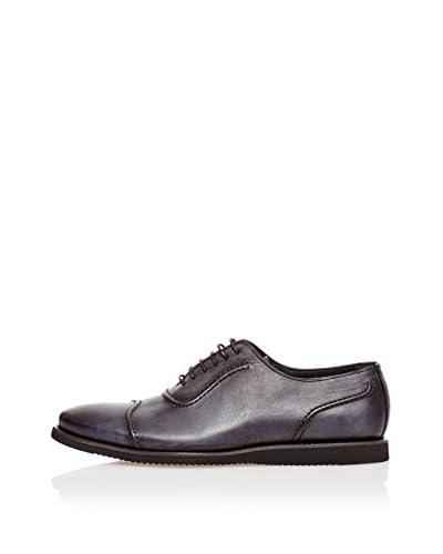RRM Zapatos Oxford Nervios Gris / Negro