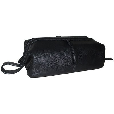 amerileather-top-zip-leather-toiletry-bag-black