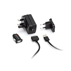 Griffin Powerblock Duo Portable UK Mains Adapter and In-Car Charger for iPhone 3G, 3GS, 4, 4S, iPad 2, 3, iPod Touch 4th Gen and iPod Nano 6th Gen - Black