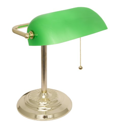 desk lamp green glass shade antique office home table light ebay. Black Bedroom Furniture Sets. Home Design Ideas