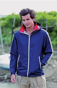 Front Row Mens Waterproof Shell Jacket Black/White/Red 2XL