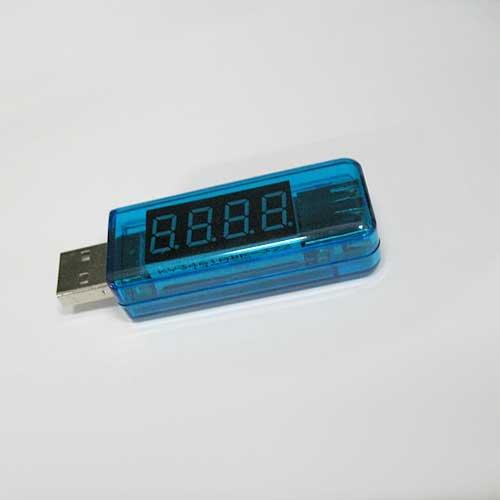 【ノーブランド品】USB 簡易電圧・電流チェッカー ストレート型 (3.4V?8.0V,0A?3A)
