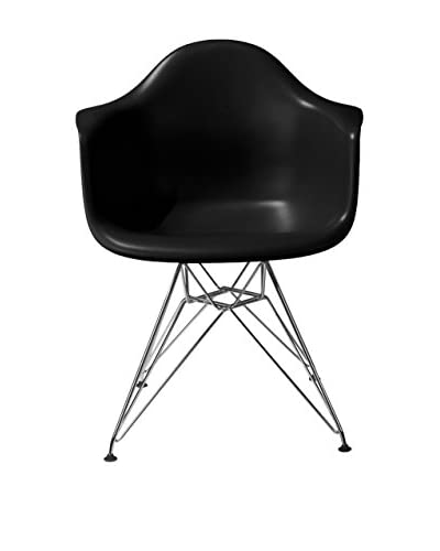 Macer Home Wire Arm Chair, Black
