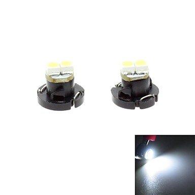 Zcl T4.2 0.5W 2X3528 Smd Led 30Lm 6000K White Light Bulb For Car Dash Board Cluster Gauges Instrument Lamp(Dc 12V , 2-Pack)
