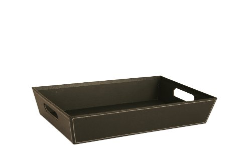 17-Inch Black Paperboard Tray (Black Paper Food Tray compare prices)