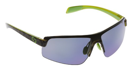 Native Lynx Polarized Sunglasses, Blue Reflex, Black Lime Burst