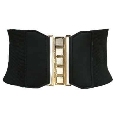 black elastic stretch 4 5 quot wide corset cinch belt apparel