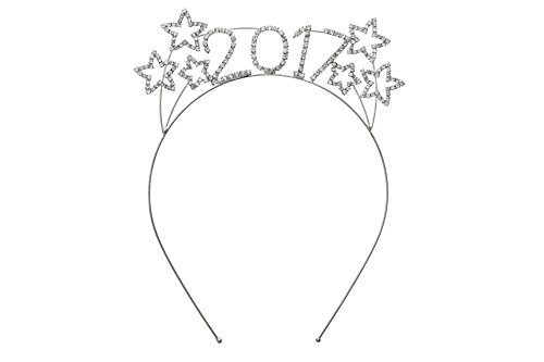 Rosemarie Collections Women's Sparkly Rhinestone New Year's Tiara Headband