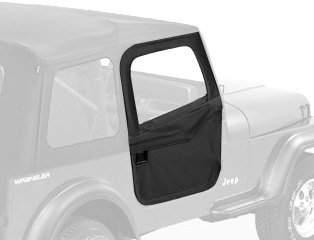 Bestop 51783-15 Black Senim 2-Piece Door Set For 80-95 Cj7 And Wrangler Yj