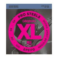 D'Addario EPS170x2  Electric Bass Guitar Strings, XL ProStee