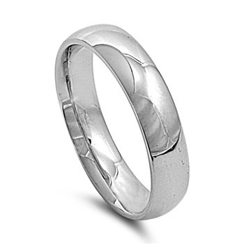 Stainless Steel Wedding Band - Comfort Fit - Size 13