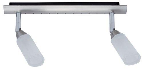 Paulmann Spotlights Astrid Balken 2x40W G9 Nickel satiniert/Satin 230V Metall/Glas