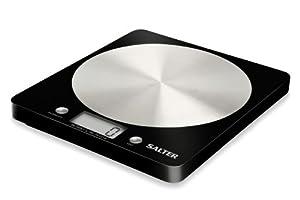 Salter 1036 Slim Design Electronic Platform Kitchen Scale - Black