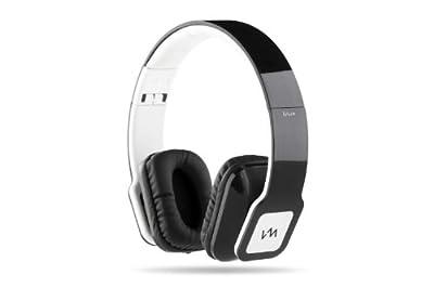 VM Audio Elux On Ear DJ Stereo Bass Headphones for MP3 iPod Piano Black White